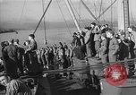 Image of American troop ships arriving in English waters after crossing the Atlantic United Kingdom, 1944, second 10 stock footage video 65675051448