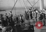 Image of American troop ships arriving in English waters after crossing the Atlantic United Kingdom, 1944, second 11 stock footage video 65675051448