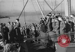 Image of American troop ships arriving in English waters after crossing the Atlantic United Kingdom, 1944, second 12 stock footage video 65675051448