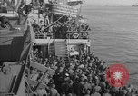 Image of American troop ships arriving in English waters after crossing the Atlantic United Kingdom, 1944, second 32 stock footage video 65675051448