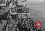 Image of American troop ships arriving in English waters after crossing the Atlantic United Kingdom, 1944, second 33 stock footage video 65675051448