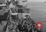 Image of American troop ships arriving in English waters after crossing the Atlantic United Kingdom, 1944, second 34 stock footage video 65675051448