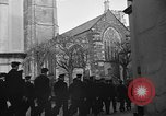 Image of United States Coast Guard personnel march in formation to Sunday service at a church England United Kingdom, 1944, second 19 stock footage video 65675051454