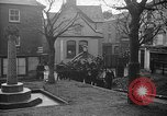 Image of United States Coast Guard personnel march in formation to Sunday service at a church England United Kingdom, 1944, second 24 stock footage video 65675051454