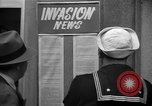 Image of News about the Allied invasion of Normandy United States USA, 1944, second 16 stock footage video 65675051456