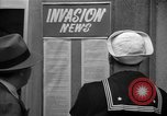Image of News about the Allied invasion of Normandy United States USA, 1944, second 17 stock footage video 65675051456