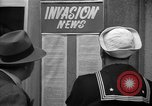 Image of News about the Allied invasion of Normandy United States USA, 1944, second 20 stock footage video 65675051456