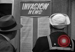 Image of News about the Allied invasion of Normandy United States USA, 1944, second 21 stock footage video 65675051456