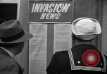 Image of News about the Allied invasion of Normandy United States USA, 1944, second 23 stock footage video 65675051456