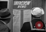 Image of News about the Allied invasion of Normandy United States USA, 1944, second 24 stock footage video 65675051456