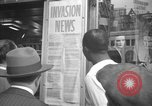 Image of News about the Allied invasion of Normandy United States USA, 1944, second 49 stock footage video 65675051456