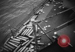 Image of United States Destroyer firing her guns Atlantic Ocean, 1944, second 31 stock footage video 65675051463
