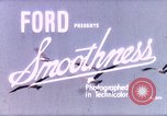 Image of Advertisement for smooth ride of 1939 Ford automobiles United States USA, 1939, second 1 stock footage video 65675051551