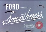 Image of Advertisement for smooth ride of 1939 Ford automobiles United States USA, 1939, second 4 stock footage video 65675051551