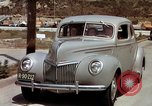 Image of Advertisement for smooth ride of 1939 Ford automobiles United States USA, 1939, second 17 stock footage video 65675051551