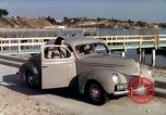 Image of Advertisement for smooth ride of 1939 Ford automobiles United States USA, 1939, second 41 stock footage video 65675051551