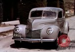 Image of Advertisement for smooth ride of 1939 Ford automobiles United States USA, 1939, second 53 stock footage video 65675051551