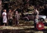 Image of People visiting a forest in their 1939 Ford car United States USA, 1939, second 23 stock footage video 65675051552