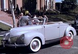 Image of Parents give daughter keys to a new Ford convertible United States USA, 1939, second 40 stock footage video 65675051553