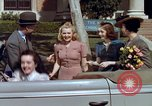 Image of Parents give daughter keys to a new Ford convertible United States USA, 1939, second 43 stock footage video 65675051553