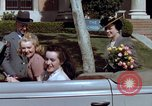 Image of Parents give daughter keys to a new Ford convertible United States USA, 1939, second 46 stock footage video 65675051553
