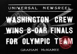 Image of University of Washington crew qualifies for 1936 olympics United States USA, 1936, second 1 stock footage video 65675051562
