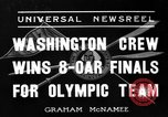 Image of University of Washington crew qualifies for 1936 olympics United States USA, 1936, second 2 stock footage video 65675051562