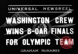 Image of University of Washington crew qualifies for 1936 olympics United States USA, 1936, second 4 stock footage video 65675051562