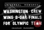 Image of University of Washington crew qualifies for 1936 olympics United States USA, 1936, second 9 stock footage video 65675051562