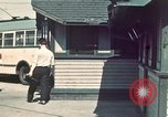 Image of buses in garage United States USA, 1937, second 4 stock footage video 65675051568