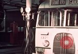 Image of buses in garage United States USA, 1937, second 50 stock footage video 65675051568