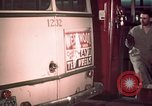 Image of buses in garage United States USA, 1937, second 52 stock footage video 65675051568