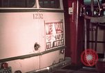 Image of buses in garage United States USA, 1937, second 53 stock footage video 65675051568