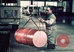 Image of buses in garage United States USA, 1937, second 62 stock footage video 65675051568