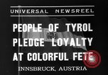 Image of Tyroleans Innsbruck Austria, 1937, second 2 stock footage video 65675051614