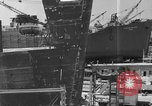 Image of Henry Kaiser demonstrates prefabricated ship assembly United States USA, 1942, second 13 stock footage video 65675051748