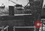 Image of Henry Kaiser demonstrates prefabricated ship assembly United States USA, 1942, second 15 stock footage video 65675051748