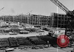 Image of Henry Kaiser demonstrates prefabricated ship assembly United States USA, 1942, second 40 stock footage video 65675051748