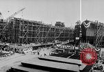 Image of Henry Kaiser demonstrates prefabricated ship assembly United States USA, 1942, second 46 stock footage video 65675051748