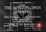 Image of Dick Powell Road is Open Again United States USA, 1933, second 9 stock footage video 65675051797