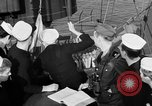 Image of LST communication using semaphore, signal flags, and blinking lights English Channel, 1944, second 32 stock footage video 65675051829