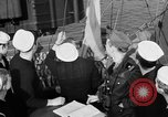 Image of LST communication using semaphore, signal flags, and blinking lights English Channel, 1944, second 33 stock footage video 65675051829
