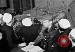 Image of LST communication using semaphore, signal flags, and blinking lights English Channel, 1944, second 35 stock footage video 65675051829