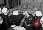 Image of LST communication using semaphore, signal flags, and blinking lights English Channel, 1944, second 36 stock footage video 65675051829