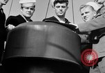 Image of LST communication using semaphore, signal flags, and blinking lights English Channel, 1944, second 37 stock footage video 65675051829