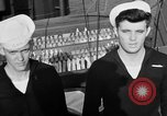 Image of LST communication using semaphore, signal flags, and blinking lights English Channel, 1944, second 57 stock footage video 65675051829