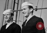 Image of LST communication using semaphore, signal flags, and blinking lights English Channel, 1944, second 62 stock footage video 65675051829
