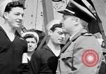 Image of American officer English Channel, 1944, second 15 stock footage video 65675051833