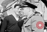 Image of American officer English Channel, 1944, second 19 stock footage video 65675051833