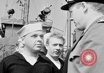 Image of American officer English Channel, 1944, second 25 stock footage video 65675051833